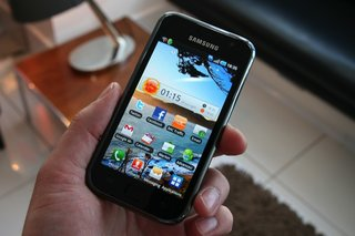 Samsung Galaxy S touches down