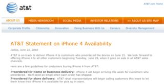 iPhone 4: AT&T already sold out