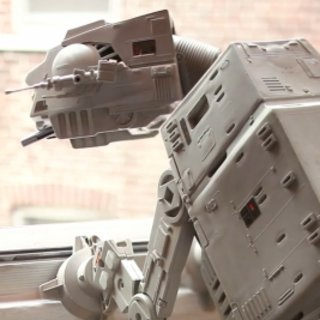 VIDEO: Star Wars AT-AT comes to life as cute canine
