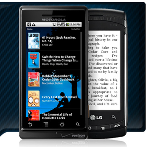 Amazon Kindle for Android checks in