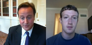 VIDEO: Zuckerberg Skypes Cameron
