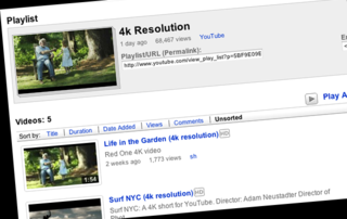 4K videos come to YouTube