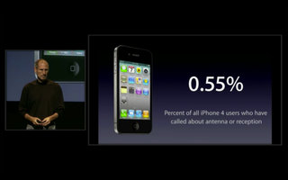 iPhone 4 complaints: Only .55 per cent of users have reported signal loss