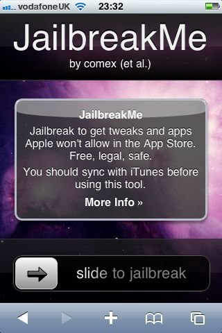 Jailbreakme.com jailbreaks iPhone and iPad