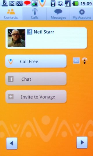 Vonage app arrives for free calls to Facebook friends