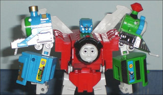 Transformer knock-off: Thomas the Tank engine... in disguise