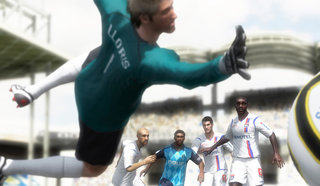 Play as the goalie in FIFA 11