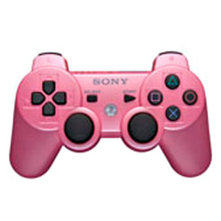 PS3 DualShock 3 controller - pretty in pink