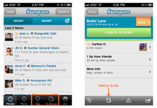 Foursquare 2.0 focuses on do to lists and Add to My Foursquare
