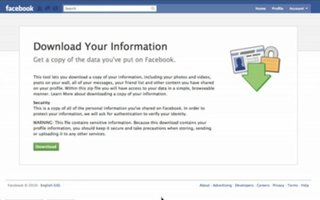 Facebook to let you download your Facebook data
