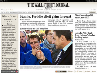 Wall Street Journal adds European and Asian editions to iPad app