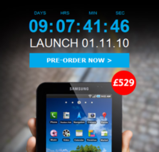 Tesco touts the Samsung Galaxy Tab
