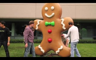 VIDEO: Gingerbread baked for Google HQ