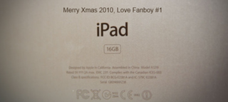 iPad engraving arrives in time for Christmas