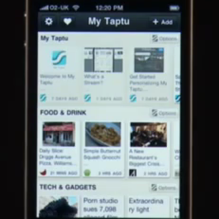 My Taptu takes on Pulse for news on the go
