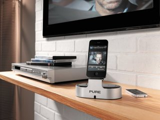 Pure i-20 iPhone dock streams music and video