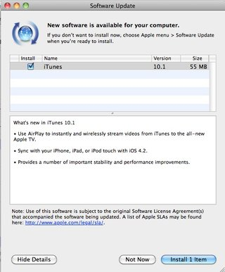 iTunes 10.1 update goes live