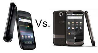 Samsung Nexus S vs HTC Nexus One
