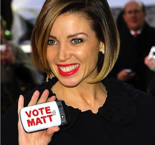 X-Factor's Dannii Minogue campaigns for Matt Cardle with BlackBerry Bold