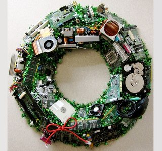 Christmas wreath gets techy makeover