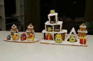 Angry Birds gingerbread house - for fans who like to keep it Finnish