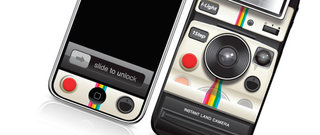 Skin makes iPhone / iPad look like Polaroid Land Camera