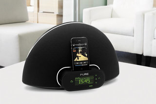 Retractable iPod docking with the Pure Contour
