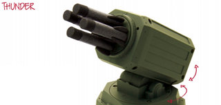 Thunder missile launcher: the future of office tomfoolery