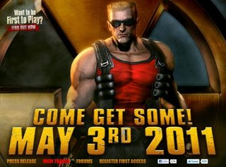 Duke Nukem Forever landing 3 May