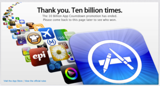Apple reaches 10 billion app download milestone