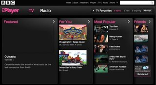 BBC iPlayer for iPad downloading 10 February