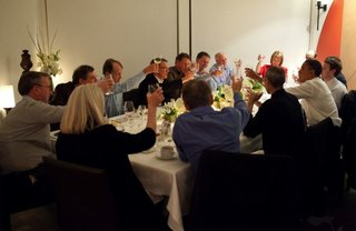 Steve Jobs, Mark Zuckerberg and others dine with the President