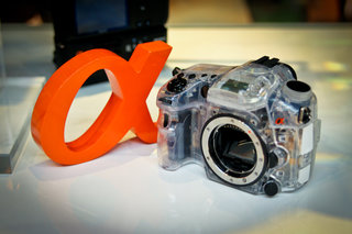 Sony see-through SLT alpha camera concept hands-on