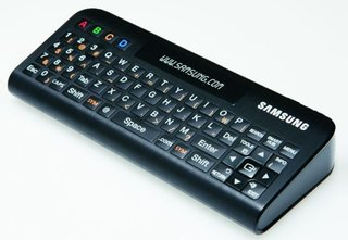 Samsung remote control adds physical QWERTY
