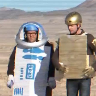 Simon Pegg and Nick Frost attempt to recreate Star Wars
