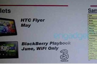 Three tips BlackBerry Playbook UK release for June