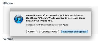iOS 4.3.1 for iPhone, iPad and iPod update out