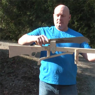 VIDEO: Shooting machetes from slingshots