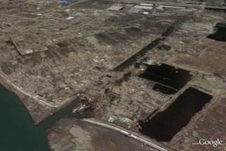 Google satellite imagery displays the devastation in Japan