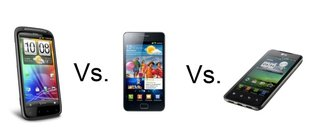 HTC Sensation vs Samsung Galaxy S II vs LG Optimus 2X
