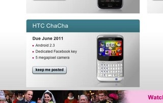 T-Mobile HTC ChaCha to enjoy June UK release date