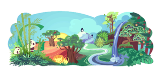 Google Doodle goes green for Earth Day