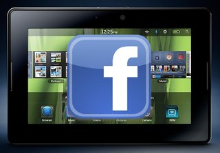 BlackBerry PlayBook to get first tablet specific Facebook app