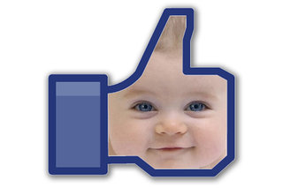 Facebook fans name baby daughter Like