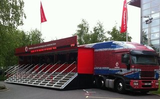 Vodafone truck is super-charged for the festival season