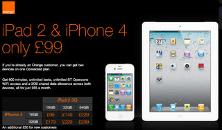 Orange launches data sharing price plan for iPhone 4 and iPad 2