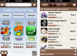 Yahoo AppSpot goes live for iPhone and Android