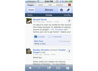Google+ available on your iPhone now