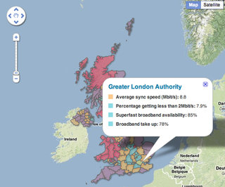 Ofcom launches interactive UK broadband map