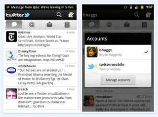 Twitter for Android updated, brings notifications and multiple accounts